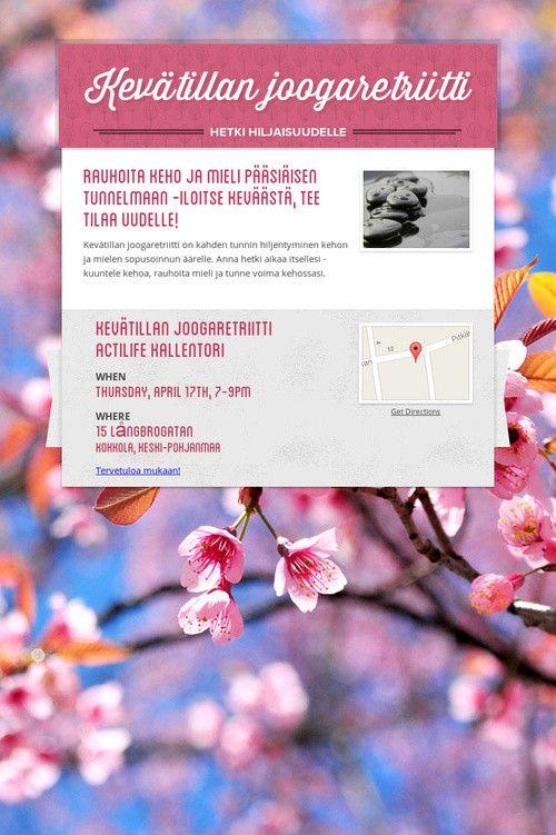 Kevätillan joogaretriitti 17.4 /Namaste <3