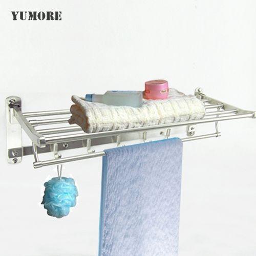 Yumore Bathroom Towel Rails With Hooks