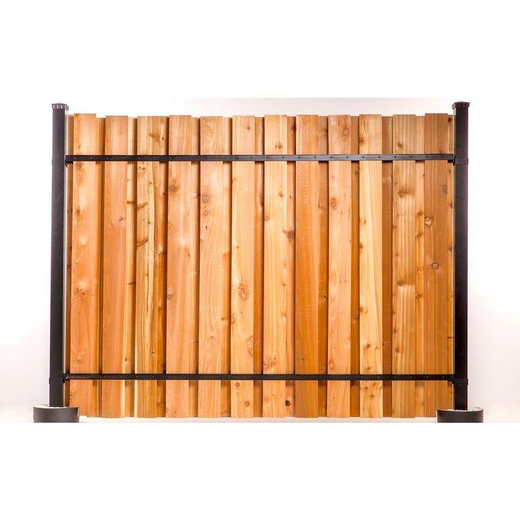 6 Ft X 8 Ft Black Aluminum Corner Post Fence Panel Kit