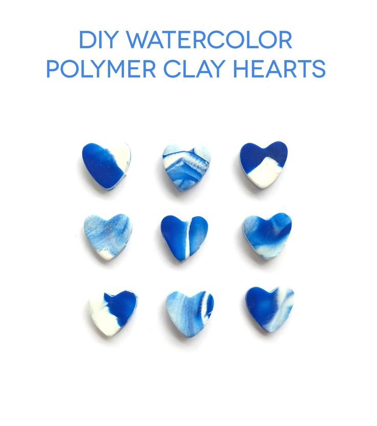 Michaels Makers Lines Across: DIY Watercolor Polymer Clay Hearts