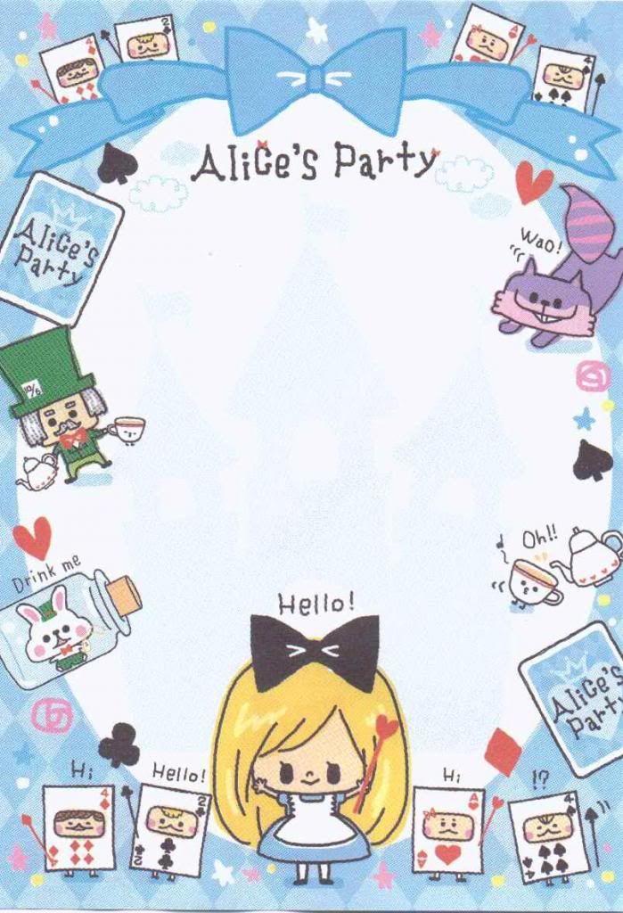 Kawaii letter paper - Alice