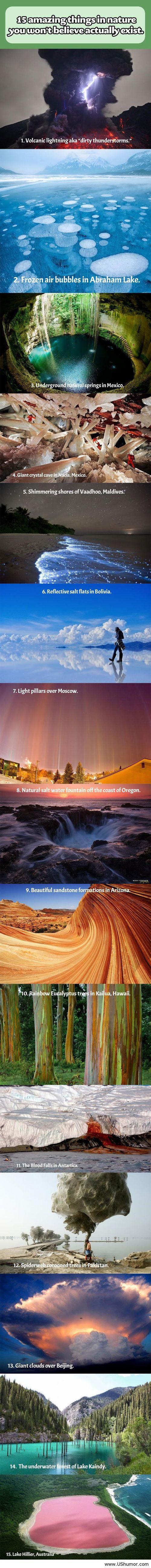 Amazing nature around the world! I'll pass on #12!