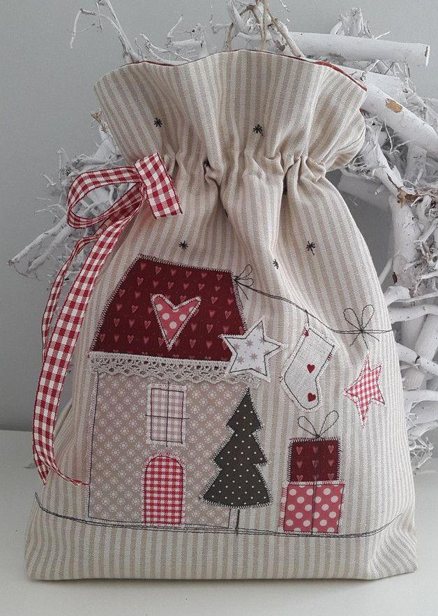 Säckchen & Beutel - Weihnachten/Sack/Utensilo/Beutel zum Befüllen - ein Designerstück von Feinerlei bei DaWanda
