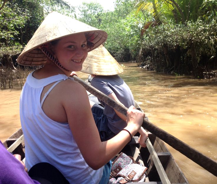A boat ride like no other. #VietnamSchoolTours #Mekong