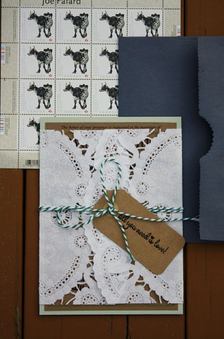 best DIY Wedding Invitations images on Pinterest  Craft