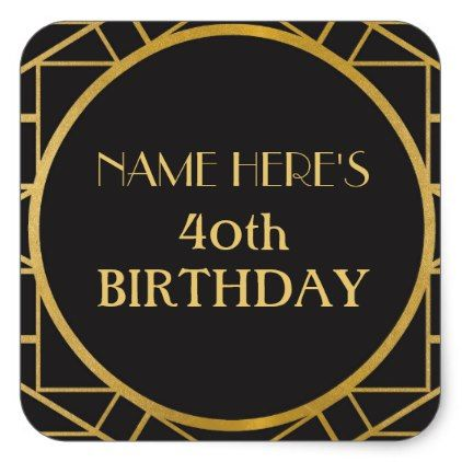 1920's Art Deco Birthday Gatsby Address Stickers - craft supplies diy custom design supply special