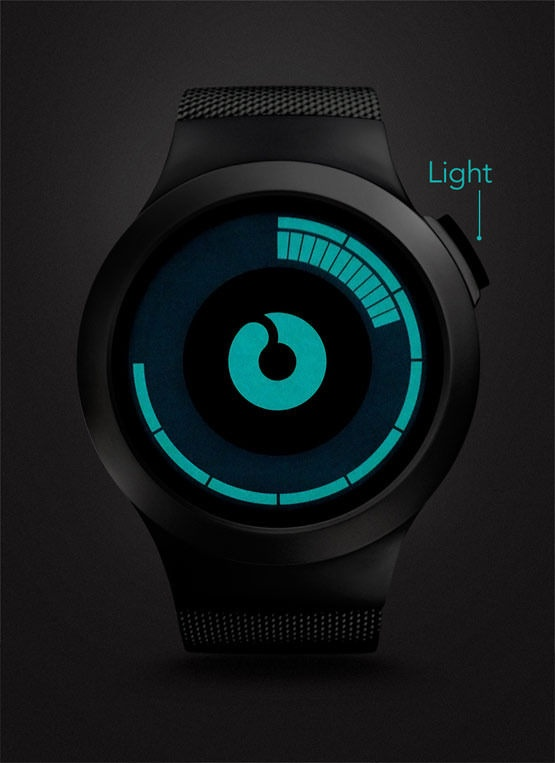 Ziiiro Saturn Watch - Backlight    www.gyrofish.com.au        #watch #watches #fashion #accessories