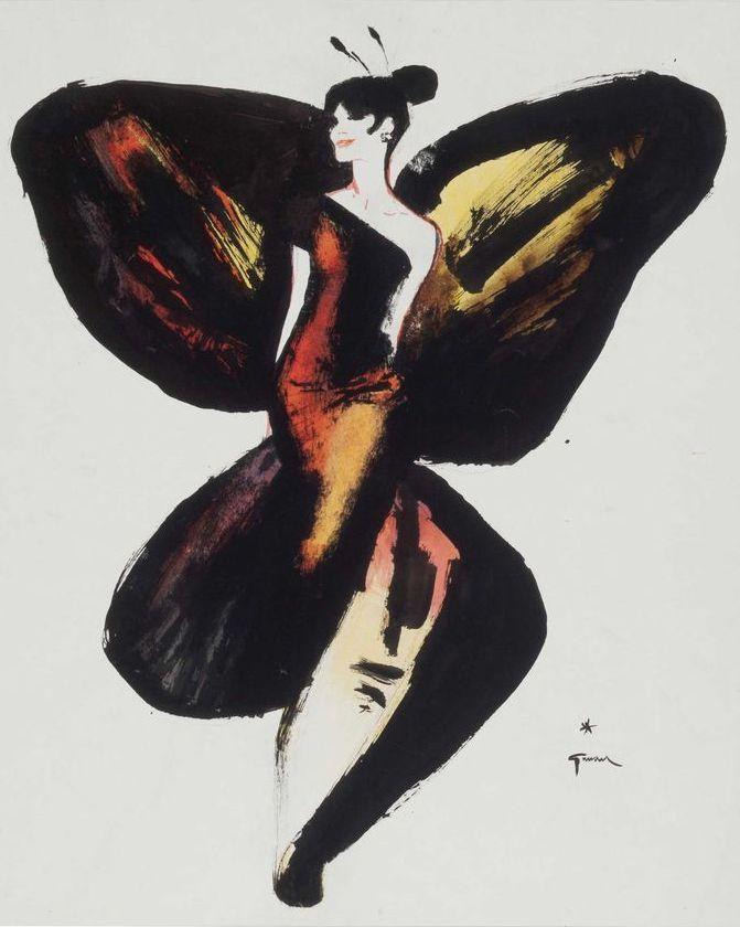 René Gruau, 1965, 'Lady Butterfly'.