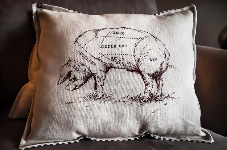 Butcher and baker pillow pillows pig pillow butcher
