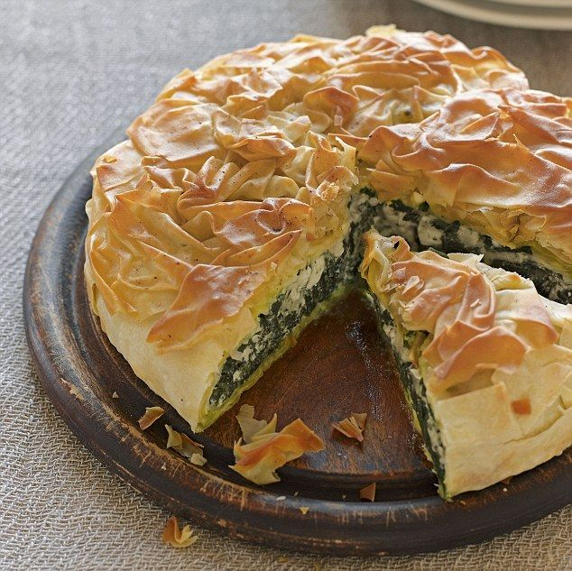 Spanakopita  Pie Great British Bake Off's scrumptious recipes for pies and pastries  ...♥♥...