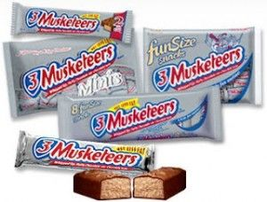 Coupon: 3 Musketeers Bars