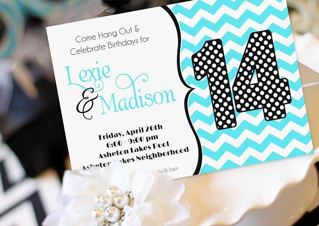 Amanda's Parties TO GO: Monogram Birthday Party - Madison's 14th!