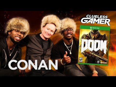 Conan O'Brien Plays DOOM With Broncos' Von Miller & Panthers' Josh Norman on Clueless Gamer