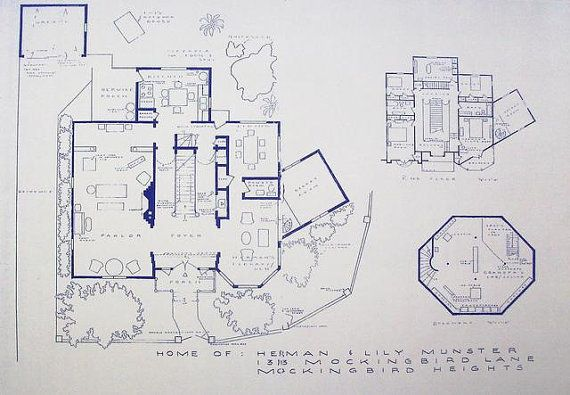 House From The Munsters TV Show Blueprint