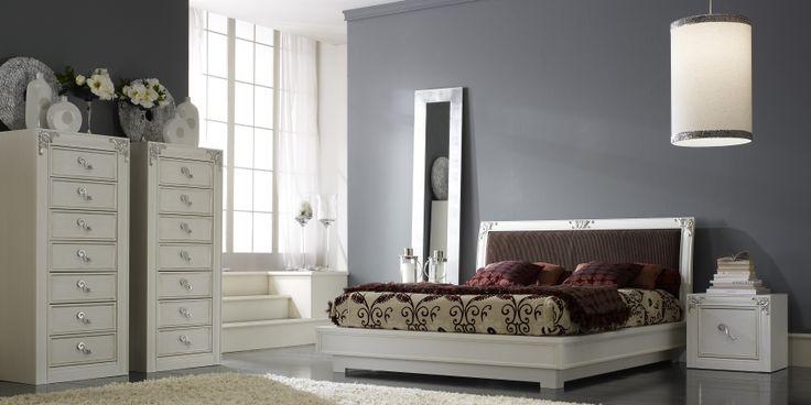 letto legno laccato neoclassico