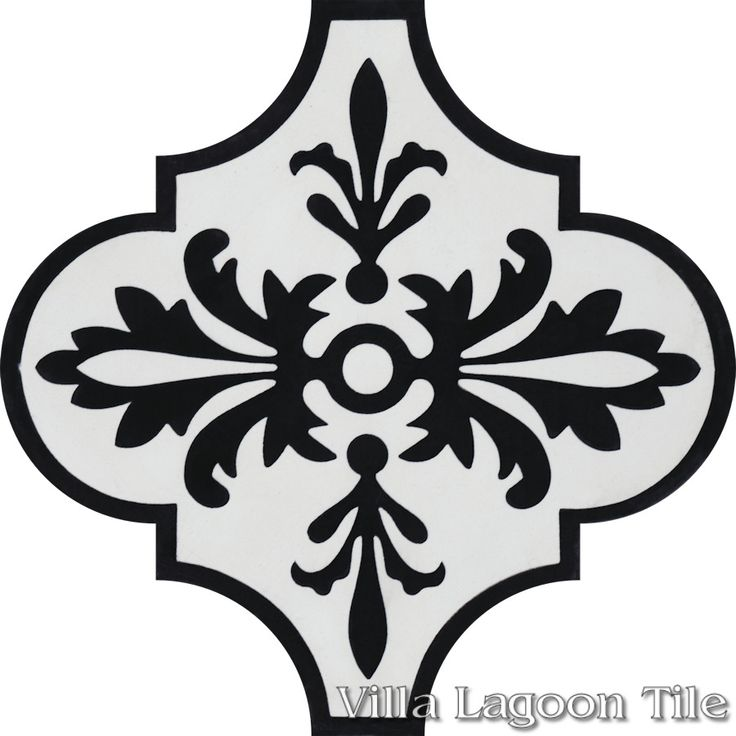 "Arabesque Classic ""Porto"", from Villa Lagoon Tile."