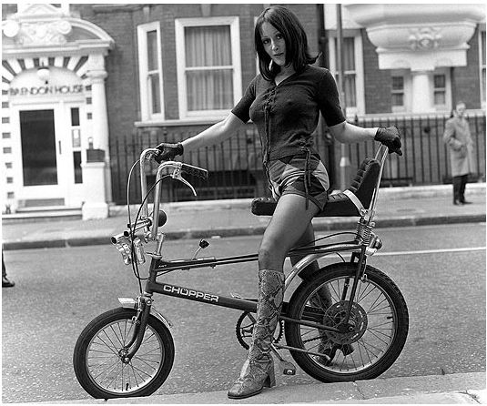 Raleigh Chopper. Someone (some cool/rich kid)  in the neigborhood had this. Alas it did not come with the babe.