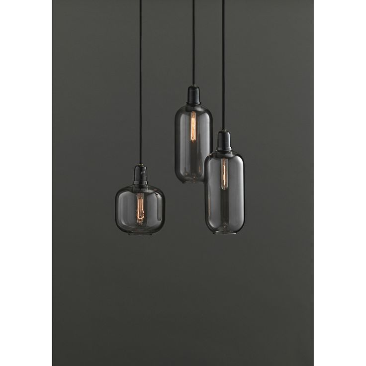 Att ha över köksbord Amp pendel L, smoke/svart – Normann Copenhagen – Köp online på Rum21.se