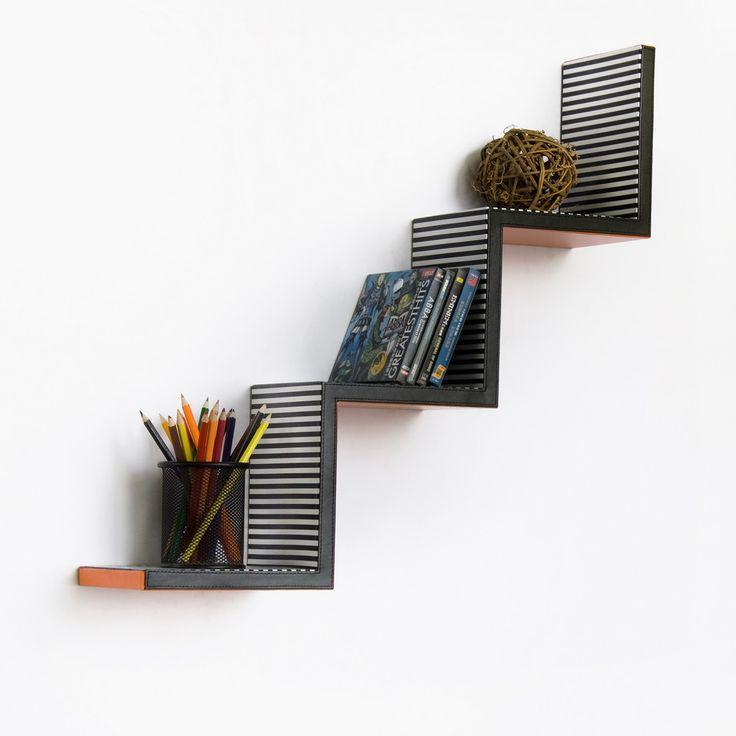 Ladder Wall Shelf Orange