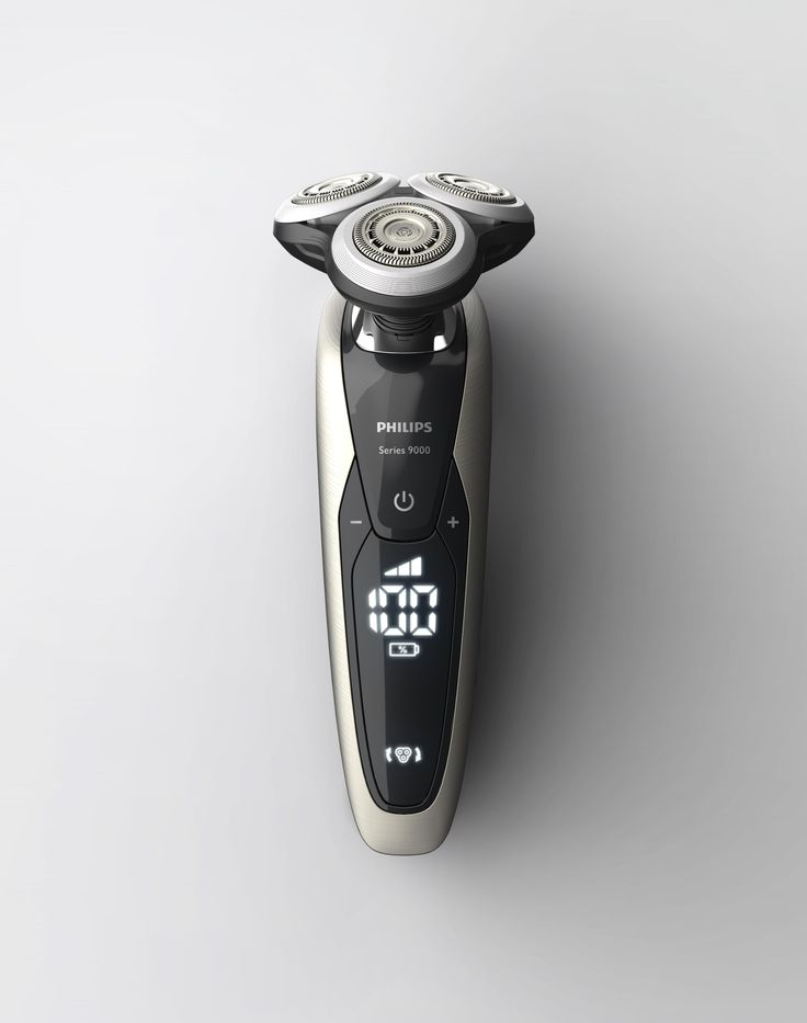 Philips shaver 9000 series rendered in KeyShot by Remko de Wit.