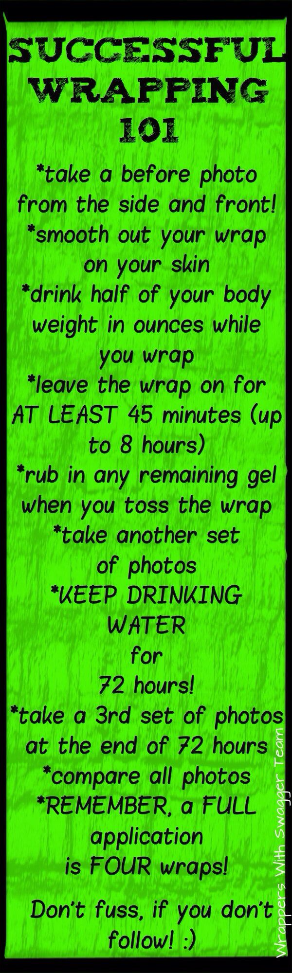 Here's some step by step tips On getting great results with your itworks skinny wrap!
