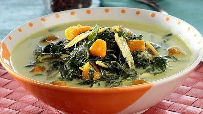 Resep Sayur Bobor Daun Singkong Labu Kuning Hidangan Vegetarian Dengan Gurihnya Kuah Santan Sayuran Labu Resep