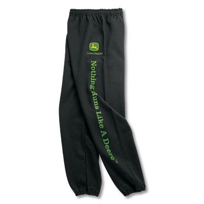 John Deere Mens Black Sweatpants