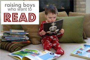 Thankfully I have TWO boys who love reading and books. Teaching boys