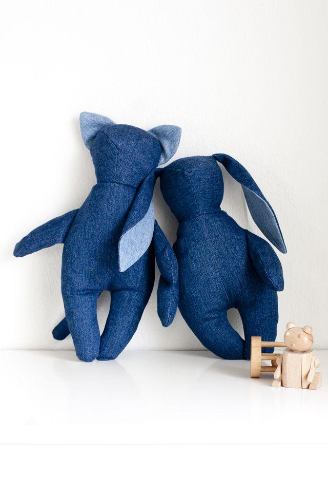 UKKONOOA: Kierrätetyt kaverit / Recycled Denim Soft Toys