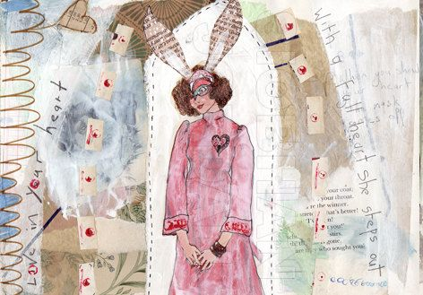 Matted Art Print  Love in your heart  11 x 14 by SiobhanJordan, €25.05