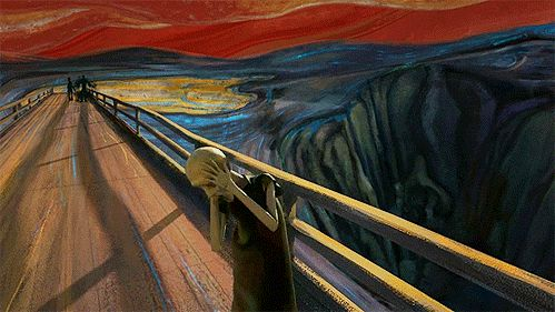 Edvard Munch's The Scream by Sebastian Cosor. Click for video at vimeo.