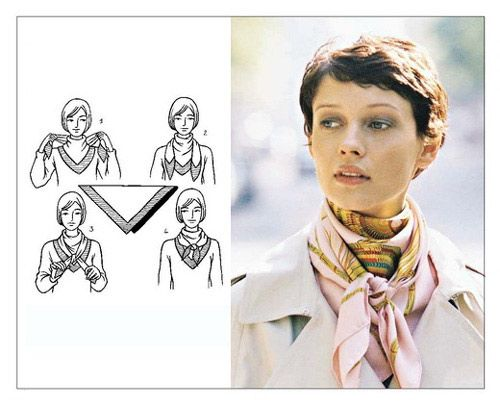 How to tie a classic neck scarf