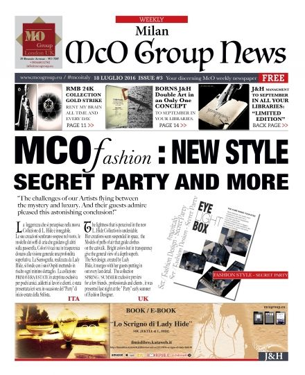 NEWS: McO FASHIO_ SECRET PARTY AND MORE _ ISSUE #3 _ 18/7/2016 - McO Group