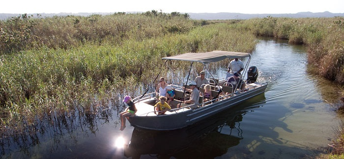 Took a boat trip on the Kosi lake system @ Kosi Forest Lodge