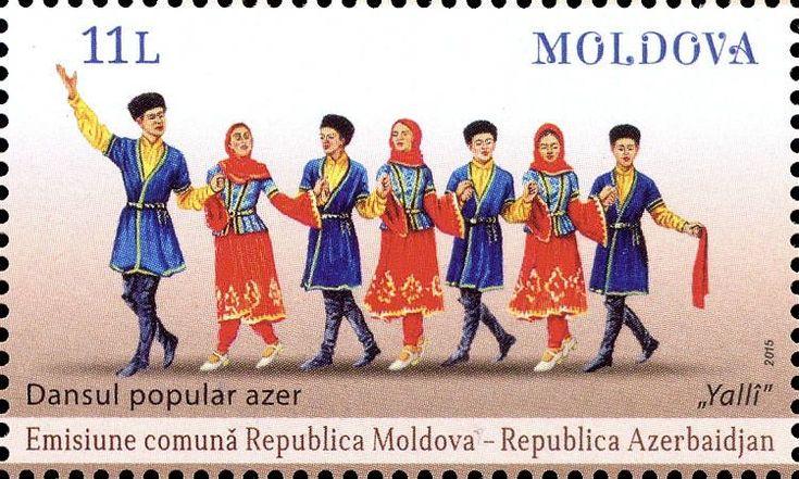 Moldova Postage Stamps (Commemorative) 2015 № 929 | Traditional Dance of Azerbaijan «Yalli» | Issue: Folk Dances (III) - Joint Issue with Azerbaijan