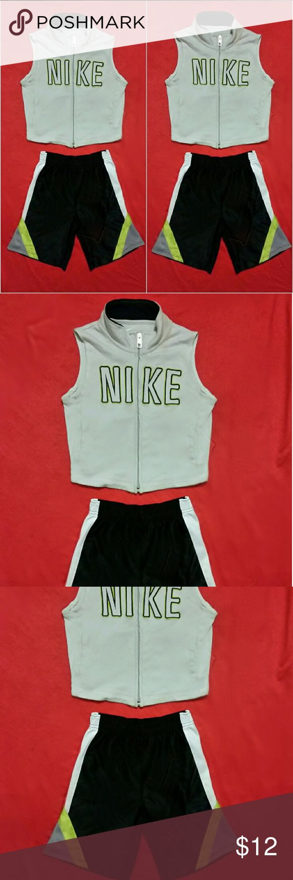 """2"" Pieces Boy (Toddler) Nike vest & Elastic Pants NIKE VEST SIZE: 3T & Elastic Pants size: 5T *USED Clean & Great Conditions! Nike Matching Sets"