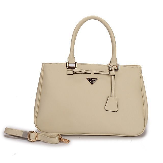 6608de088142 Cheap Prada Saffiano Lux Double-Zip Tote Beige Pin It PRADA14200 ...