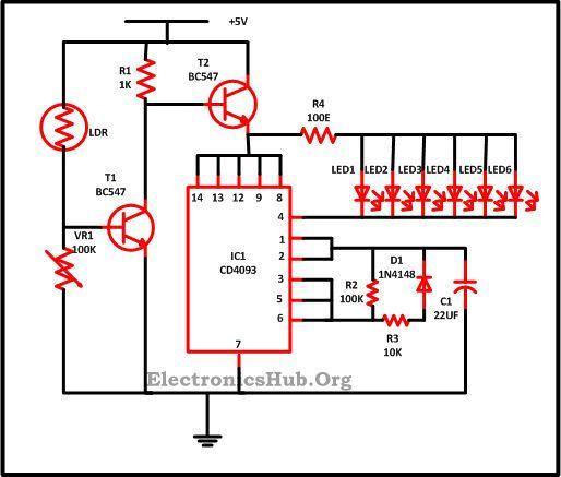 LED Christmas Lights Circuit Diagram and Working | Circuit diagram ...