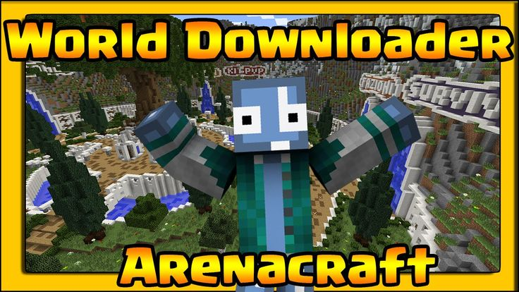 Minecraft ITA - Mod -  WORLD DOWNLOADER -  SCARICANDO ARENACRAFT !!!