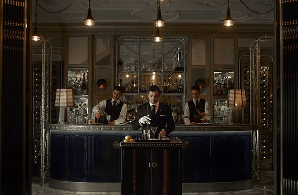 Now that's a bar cart! Martini Trolley at the Connaught Bar - London.