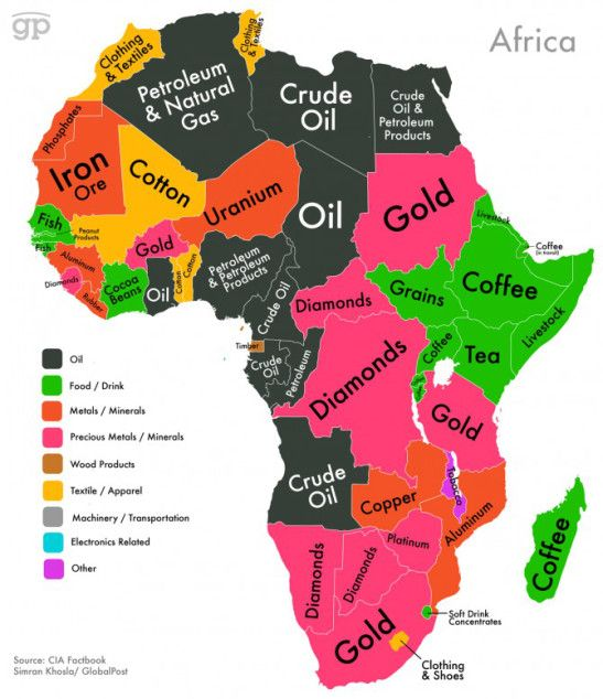Malawi On Africa Map.A Map Of Africa Showing Each Country S Top Export Malawi Tobacco