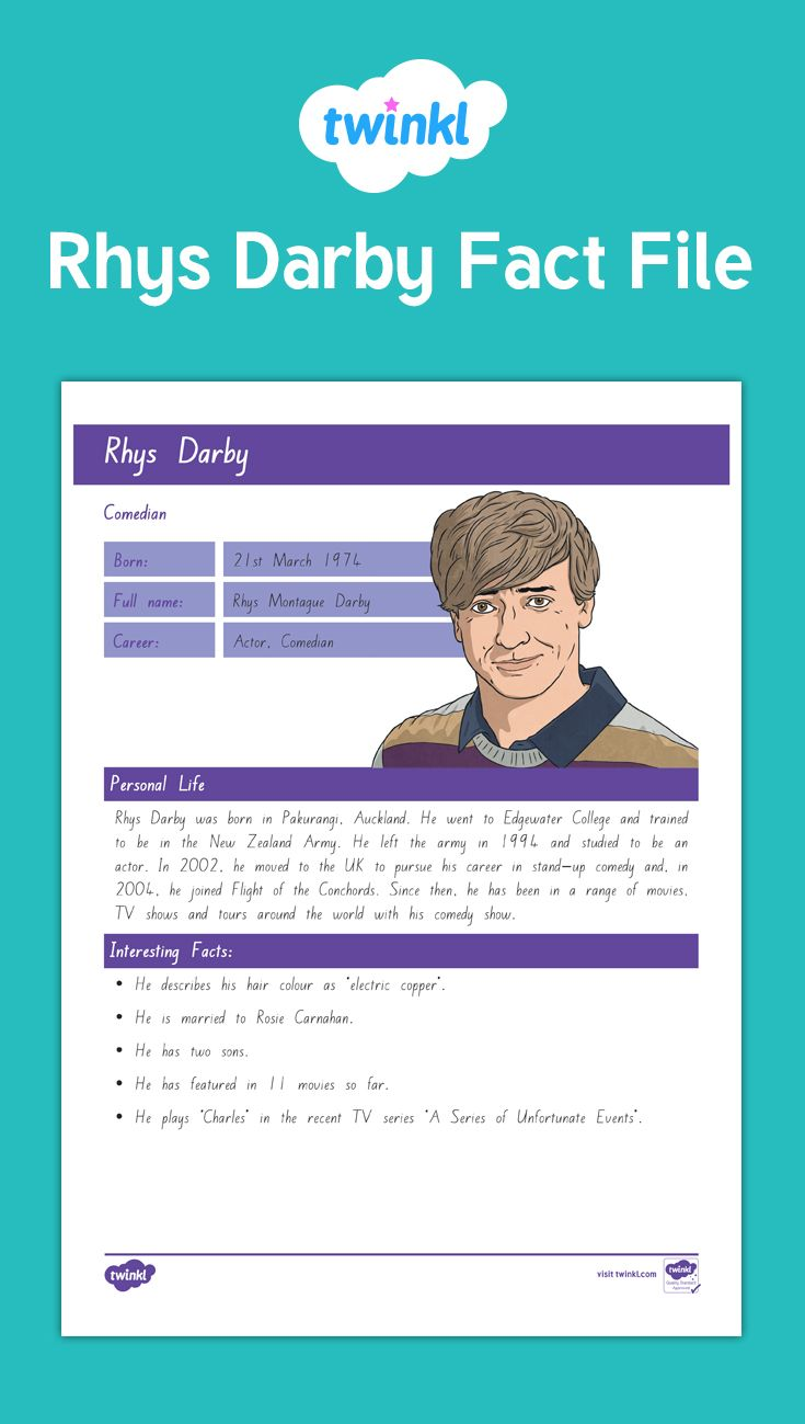 Rhys Darby Fact File