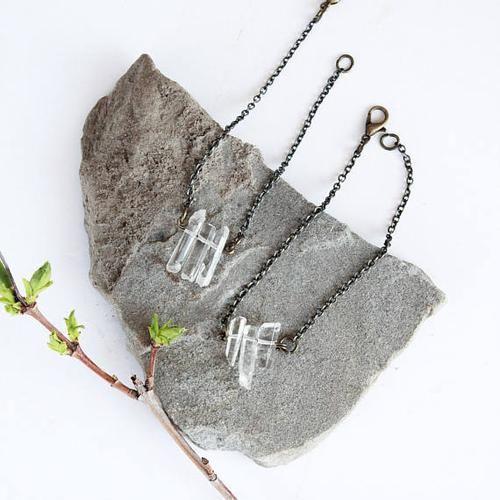 Crystal Bracelet by Birch Jewellery #jewelry #rawcrystals