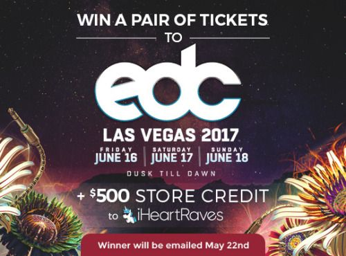 Win a Pair of tickets to EDC Las Vegas  $500 Store Credit to... IFTTT reddit giveaways freebies contests