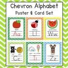 This bright and cheery chevron alphabet pack is both eye grabbing and includes 2 sizes of alphabet posters, 8.5 x 11 and 5x7.  It also includes a 1...