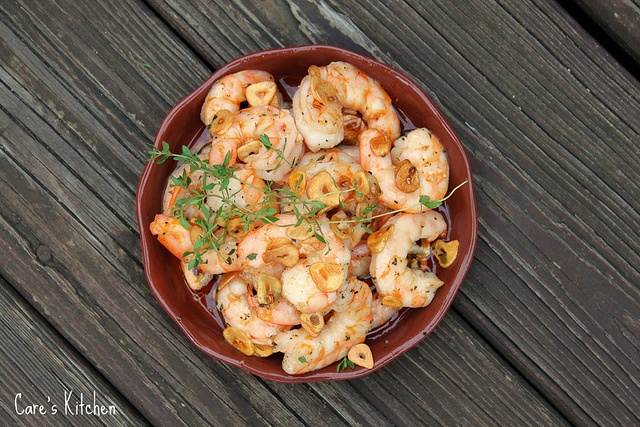 Oven Roasted Shrimp with Toasted Garlic, Chile Oil and Thyme