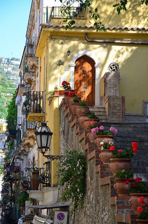 CURB APPEAL – Stairway, Taormina, Italy photo via livelovepray