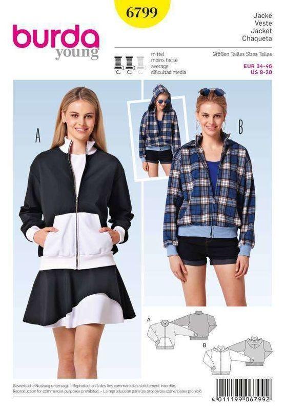 Burda 6799 Jacke Gr. 34-46 | Inspiration Mode, Nähen | Pinterest ...
