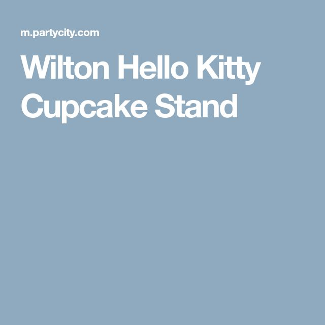 Wilton Hello Kitty Cupcake Stand