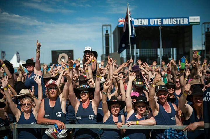 Crowd at Deni Ute Muster Australia